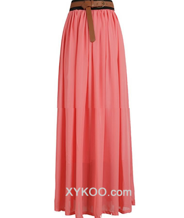 chiffon skirt on XYKOO.com